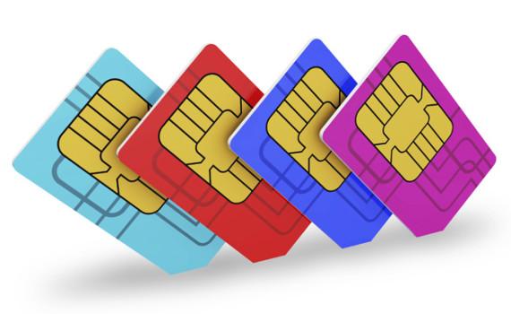 Multi colored SIM cards